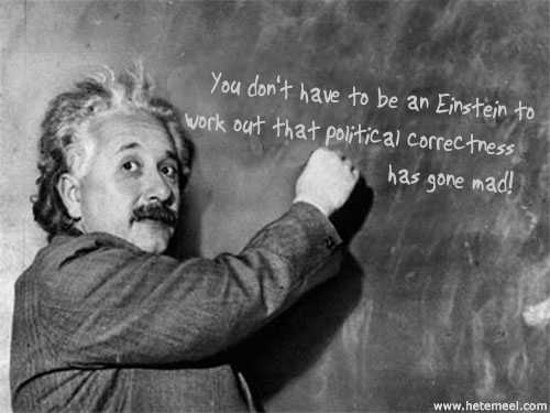 You don't have to be an Einstein to work out that political correctness has gone mad.