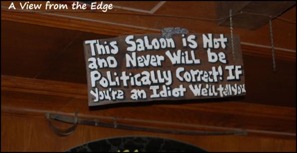 This saloon is not and never will be politically correct. If you are an idiot, we'll tell you.