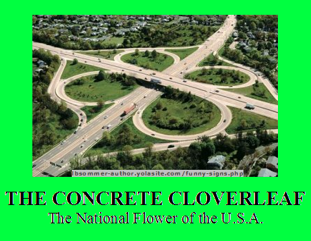 Funny photo titled The Concrete Cloverleaf - The National Flower of the U.S.A.